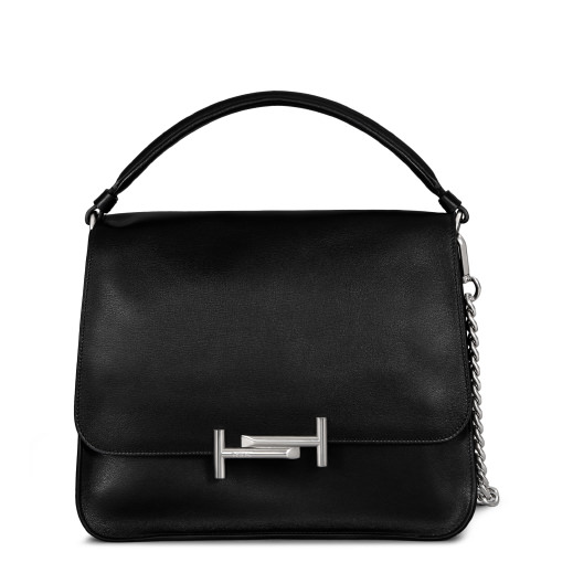 ef4f08e8289 Tod's Double T Leather Crossbody Bag In Black | ModeSens