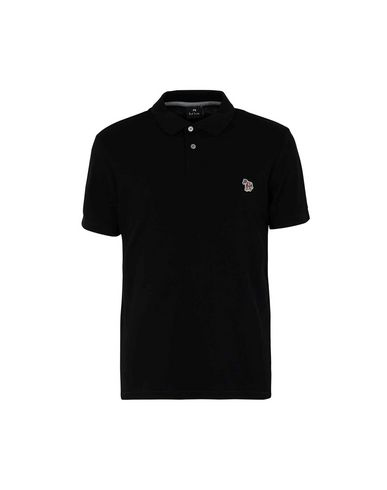 Ps By Paul Smith Regular Fit Polo In Black