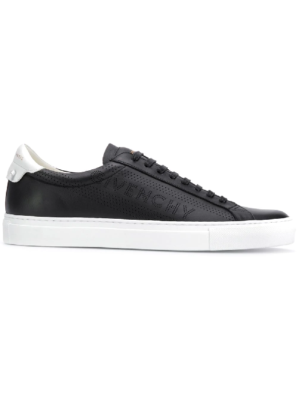 Givenchy Men's Urban Street Leather Low-Top Sneakers In Black