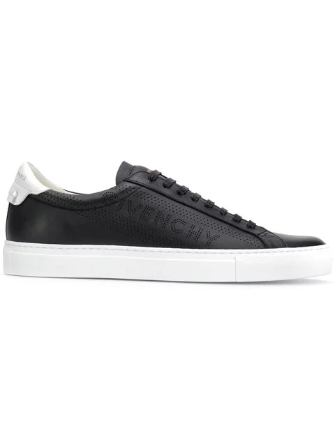 Givenchy Urban Street Sneakers In Black Leather