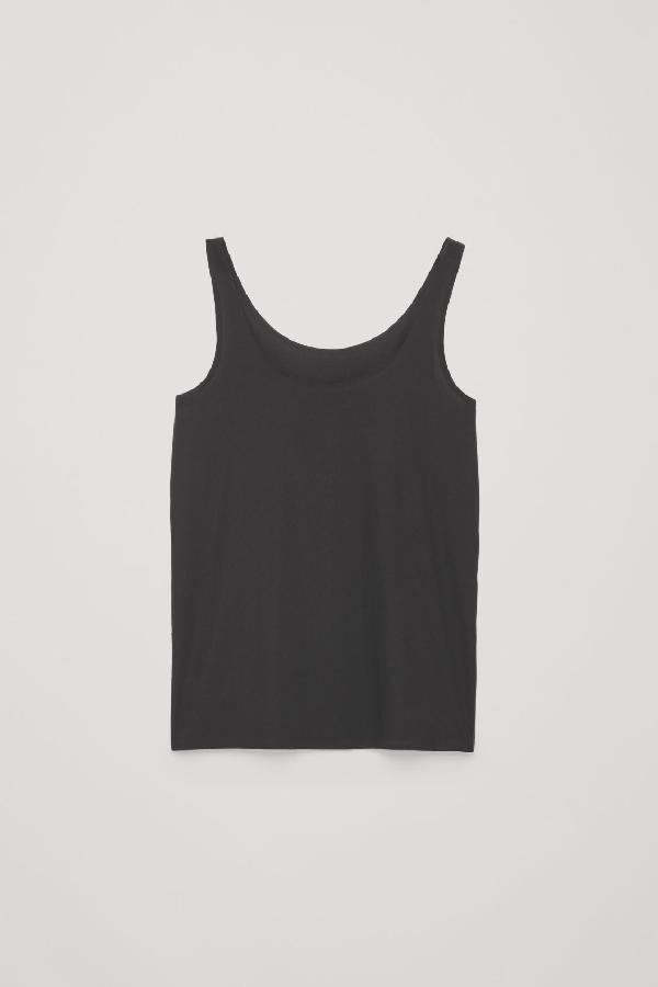 Cos Seamless Vest Top In Black
