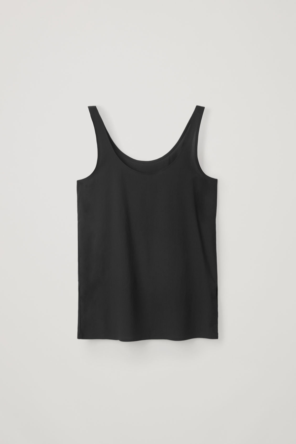 Cos Seamless Vest Top In Black