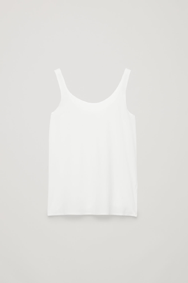 Cos Seamless Vest Top In White