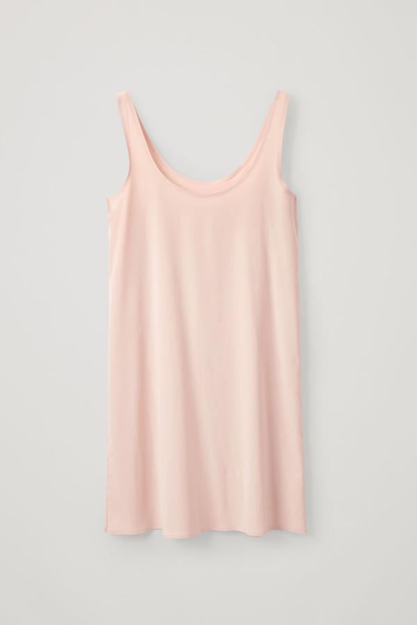 Cos Seamless Slip Dress In Beige