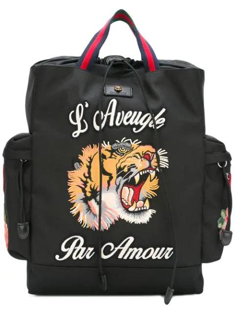 Gucci L'Aveugle Par Amour Backpack In 8662