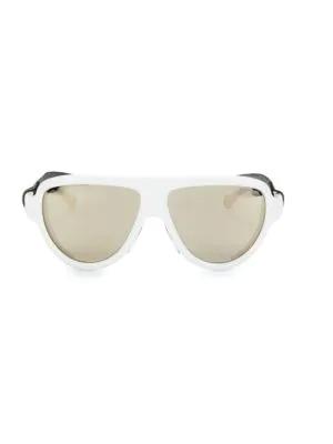 Moncler Men's 57mm Sunglasses In White