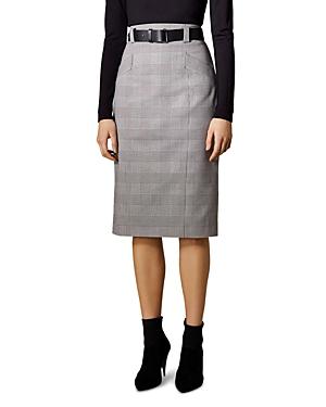 cbb820077ce3 Karen Millen Belted Glen Plaid Pencil Skirt In Black Multi   ModeSens