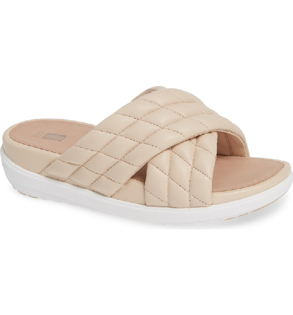 637ad4fba Fitflop Loosh Luxe Slide Sandal In Nude Leather