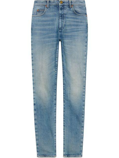 Gucci Denim Skinny Pant In Blue