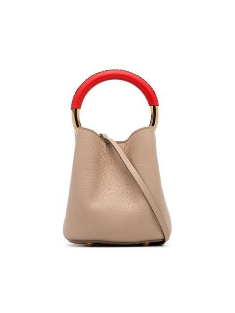 9ff72c6aa9 Marni - Pannier Leather Bucket Bag - Womens - Tan Multi In Neutrals ...