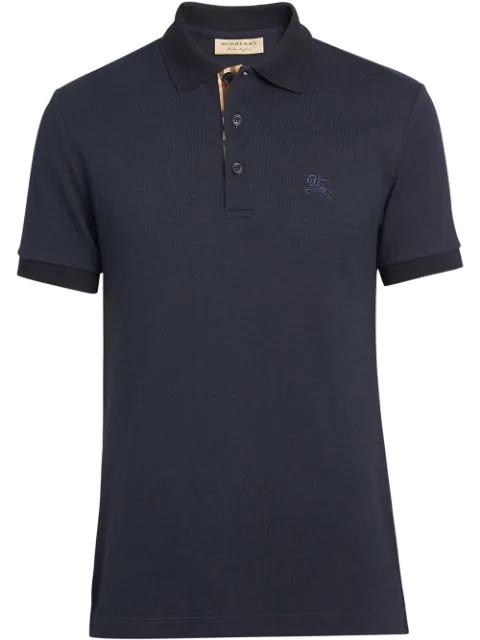 Burberry Men's Eddie Pique Polo Shirt, Navy In A1222 Navy
