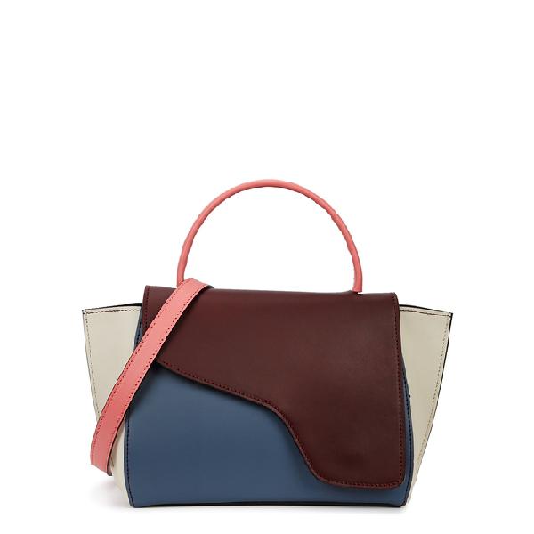 Atp Atelier Arezzo Colour-Block Leather Shoulder Bag In Multicoloured