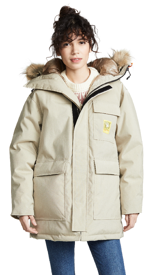 e7f253e84 Down Parka in Beige