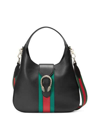 cd7e853108d Gucci Dionysus Medium Web-Stripe Hobo Bag