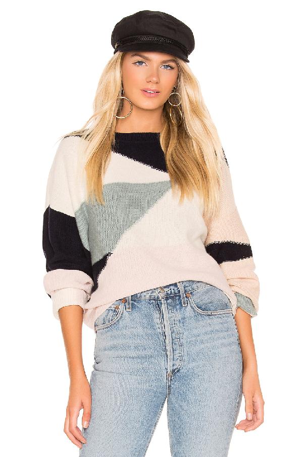 e8b828a81adfe Joie Megu Wool   Cashmere Color-Block Sweater In Porcelain Multi ...