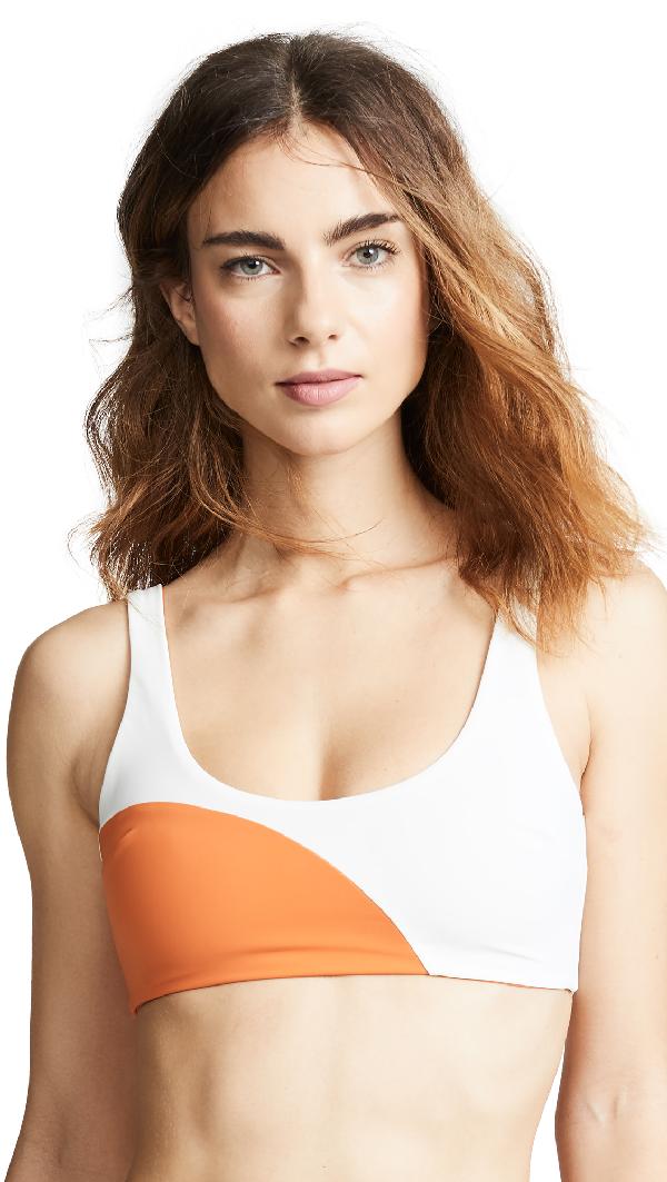 3cc5fae59bcd Mara Hoffman Lira Bikini Top In Cream Orange
