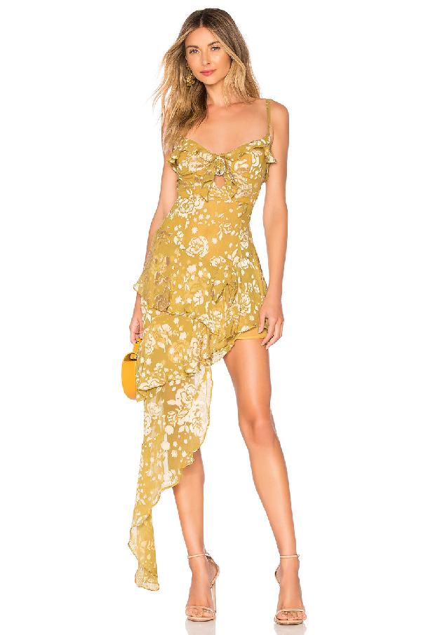 55e468ca45d8 For Love   Lemons Cosmo Asymmetric Mini Dress In Mustard