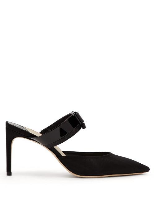 Sophia Webster Andie Bow-embellished Leather Mules In Black