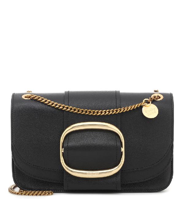 22cdfe32021e See By ChloÉ See By Chloe Hopper Medium Leather Crossbody In Black
