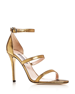 Sjp By Sarah Jessica Parker Women's Halo Strappy High-Heel Sandals In Gold