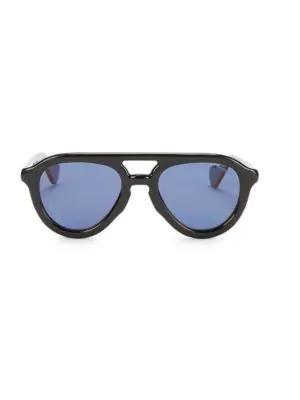 Moncler Men's 52mm Sunglasses In Black