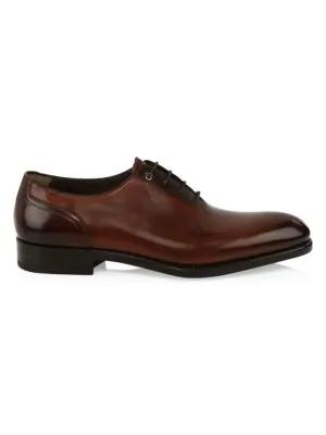 Salvatore Ferragamo Amalfi 2 Tramezza Special Edition Medallion-Toe Oxford Shoe, Brown In Brown Leather