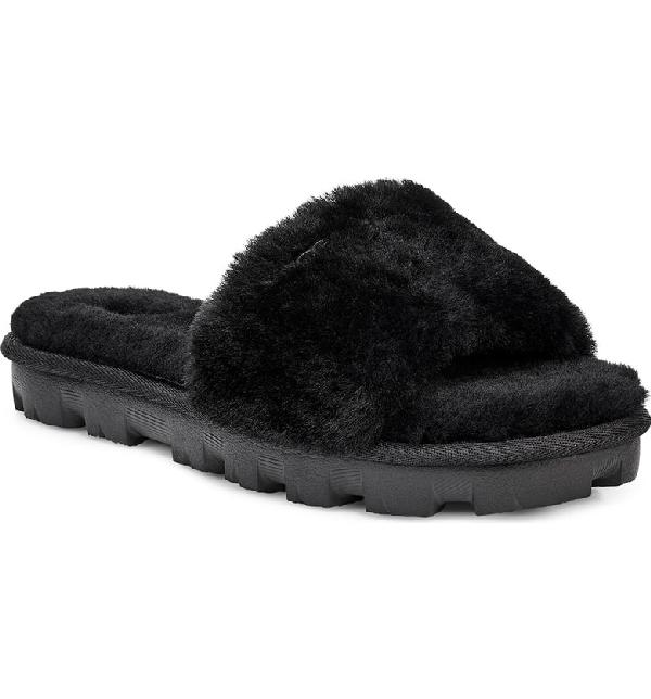 1c3eacbcf Ugg Cozette Genuine Shearling Slipper In Black | ModeSens