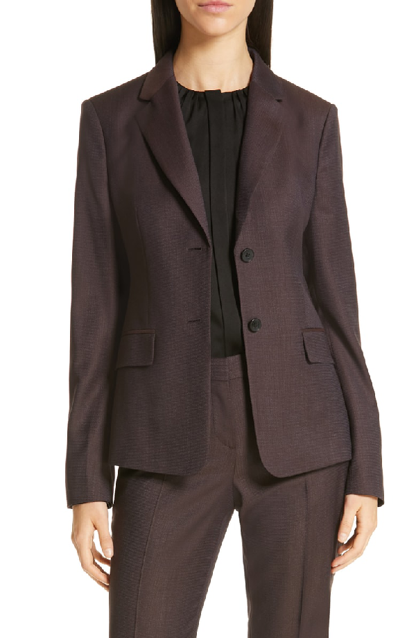 ab1c3149 Boss Jabahana Wool Suit Jacket In Dark Berry Fantasy | ModeSens