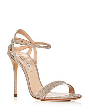 Casadei Women's Glitter Ankle-Strap High-Heel Sandals In Platino