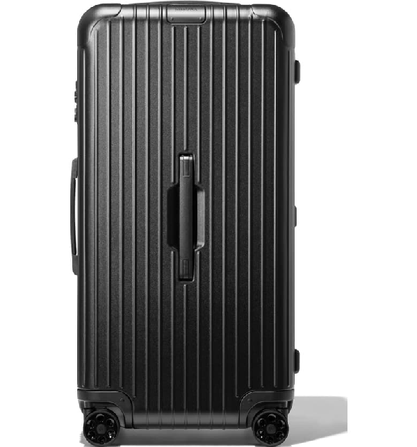 Rimowa Essential Trunk Plus 32-inch Wheeled Suitcase In Matte Black