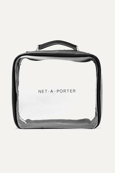 Net-a-porter Beauty Vegan Faux Leather-trimmed Perspex Cosmetics Case - Black