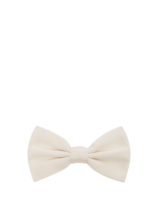 Dolce & Gabbana Silk-Faille Bow Tie In White