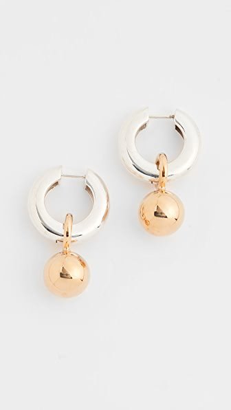 Agmes Sonia Earrings In Silver/vermeil Combo