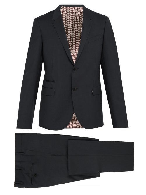 Valentino Slim-Fit Single-Breasted Wool-Blend Suit In Grey