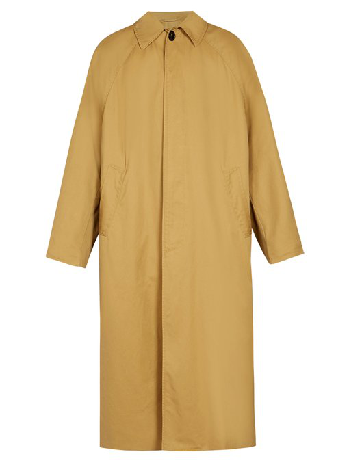 Balenciaga Oversized Trench Coat In Beige