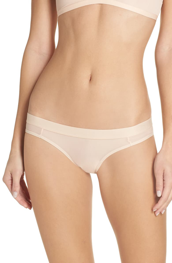 Negative Underwear Silky Briefs In Peach