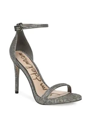 Sam Edelman Women's Ariella Metallic Stilettos In Silver