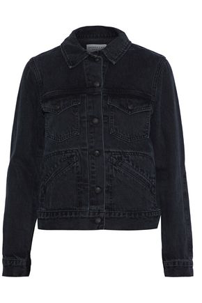 Derek Lam Woman Denim Jacket Charcoal