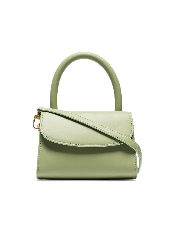 6efc1a81 By Far Mini Croc Embossed Leather Bag In Green   ModeSens