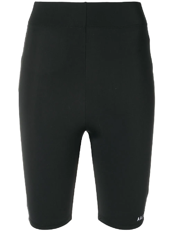 Aalto Stretch Jersey Biker Shorts In Black