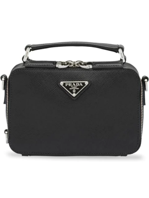 a39d9432a9deb Prada Saffiano Leather Travel Bag In Black | ModeSens