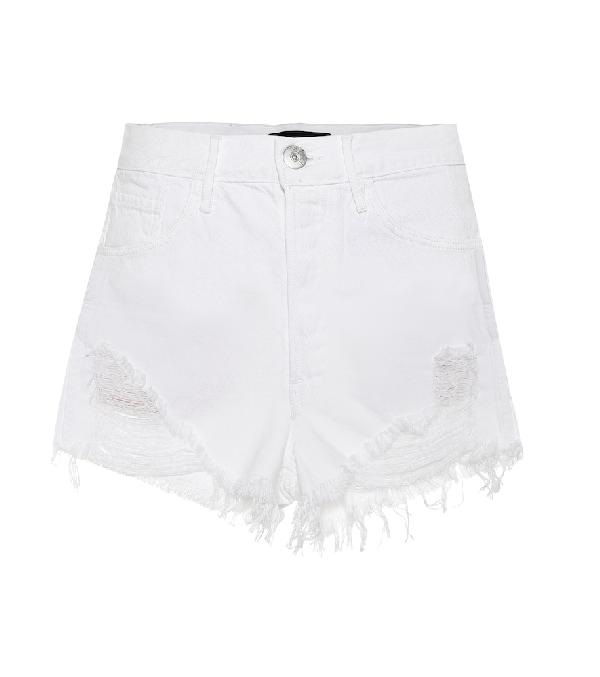 2ae61e25ecc0 3X1 Carter Distressed Denim Shorts In White