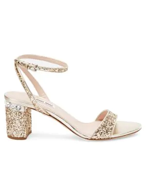292904cd0db8 Open toe. Buckled ankle strap. Cotton polyester polyvinyl leather  lining sole. Made in Italy SIZE Jeweled block heel