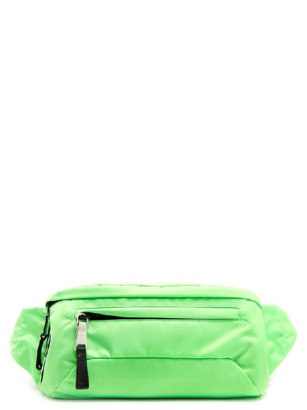 cd9cd2c30584b3 Prada Nylon Zipped Belt Bag In Green   ModeSens