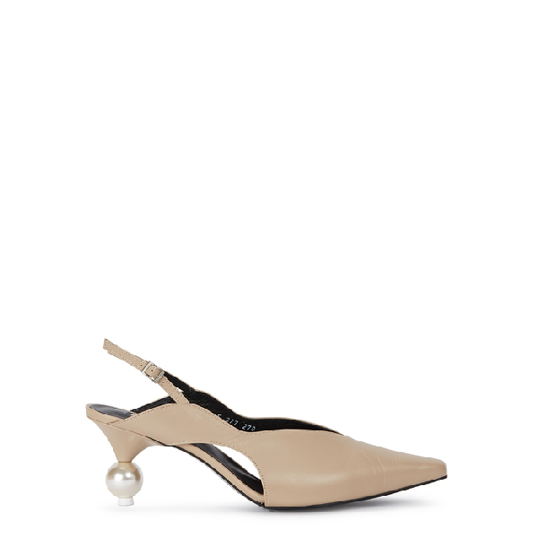 3540422454d Yuul Yie Doreen 70 Stone Leather Pumps In Beige