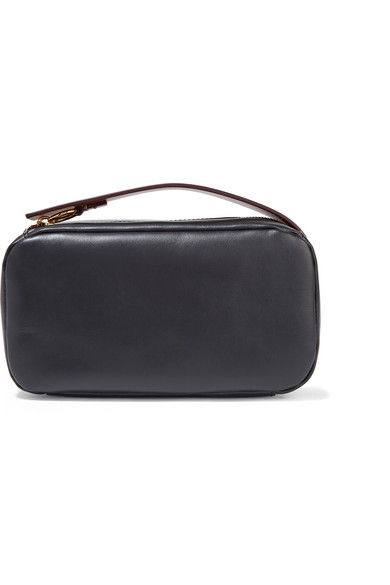 Marni Two-Tone Leather Clutch In Black