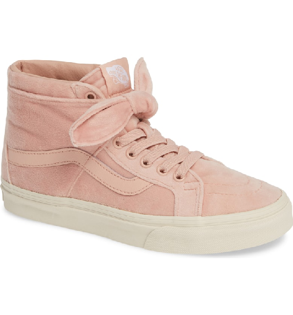 021b415e1b Vans Sk8-Hi Reissue Knotted Velvet High Top Sneaker In Rose Cloud ...