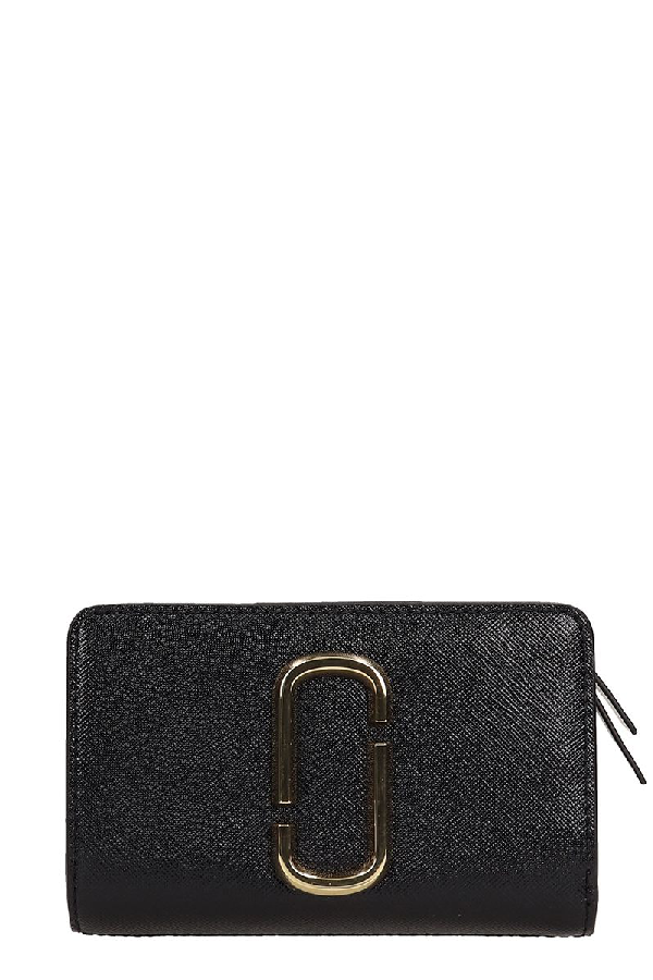 Marc Jacobs Snapshot Compact Wallet In Black