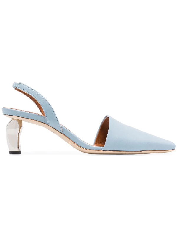 bbefd8438c Rejina Pyo Conie Leather Slingback Pumps In Blue | ModeSens