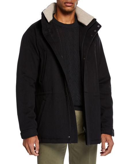Loro Piana Men's Icer Cashmere Coat In Black
